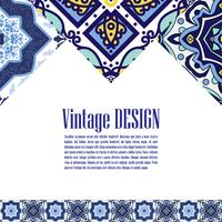 Banner azulejos in stile portoghese per il business.