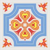 Piastrelle azulejo portoghesi. Patte senza cuciture splendide blu e bianche. vettore