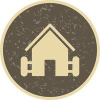 Icona di vettore di casa colonica