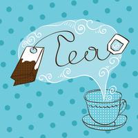 Modello di design tea time