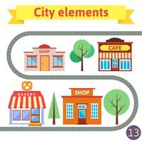 Insieme di edifici per la città vettore