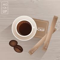 Modello di progettazione di identità aziendale impostato per coffee shop o casa
