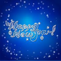 Carta di felice anno nuovo vettore