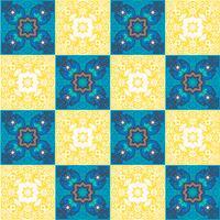 Piastrelle azulejo portoghesi. Patte senza cuciture splendide blu e bianche