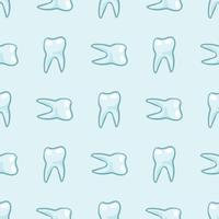 Denti bianchi su sfondo blu.