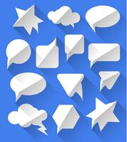 Fumetti bianchi vuoti in bianco vettore