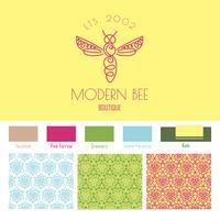 insetto. Badge Bee per l'identità aziendale