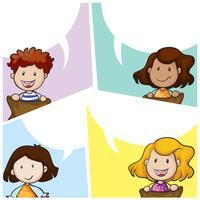 Modello di bolla di discorso con molti bambini