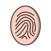 Icona di vettore di stampa dito