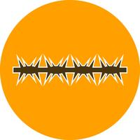 icona di vettore del filo spinato