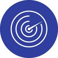Icona del vettore radar