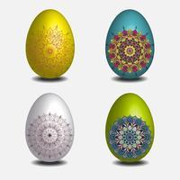 Collezione di uova pasquali Mandala.