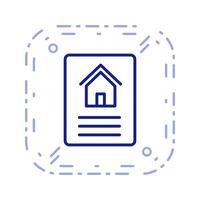 Icona di vettore del documento di casa