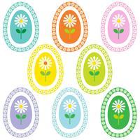 margherita nella grafica di cornici di uova di Pasqua,