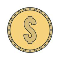 Icona di moneta di vettore Dollari