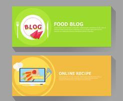 Blog alimentare e banner di ricette online