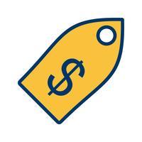 Icona di vettore dell'etichetta di affari