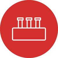 Icona stabilita di chimica di vettore