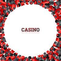 Simboli della carta da gioco del casinò su fondo bianco. Vettore Gioco d'azzardo isolato galleggiante elemento di design.