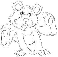 Profilo animale per l'orso grizzly vettore