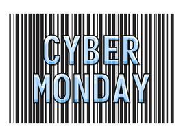 Cyber Monday Day di sconti nei negozi online vettore