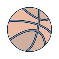 Icona di pallacanestro del vettore