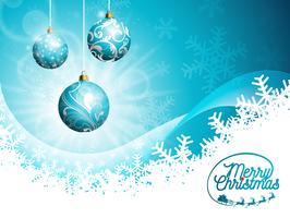 Vector Buon Natale vacanze e felice anno nuovo illustrazione
