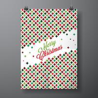 Vector Merry Christmas Holiday illustrazione con design tipografico