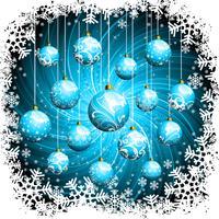 Illustrazione vettoriale di Natale con palline di vetro.