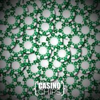 Vector l'illustrazione su un tema del casinò con i chip di gioco verdi