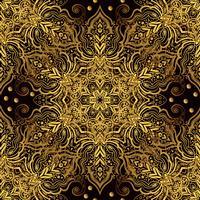 Ornamento orientale senza cuciture nello stile del barocco. vettore
