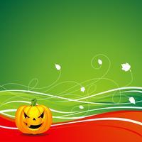 illustrazione vettoriale su un tema di Halloween con la zucca