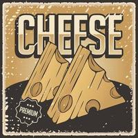 retro illustrazione vintage grafica vettoriale di formaggio adatto per poster o segnaletica in legno