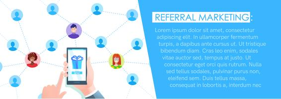 Banner di marketing referral vettore