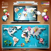 Insieme di progettazione di tecnologia vettoriale di elementi infographic