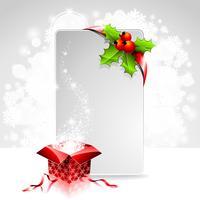 Illustrazione di festa su un tema di Natale con scatola regalo vettore