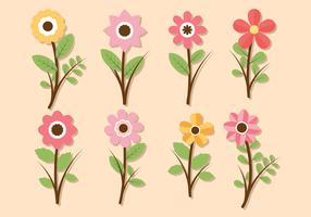 Raccolta di vettore dell'insieme di clipart del fiore