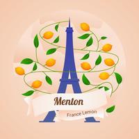 festival del limone di menton france vettore