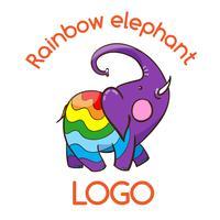 Emblema di elefante multicolore per il tuo business