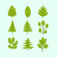Collezione Tree Clip Art vettore