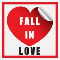 Modello di scheda con la parola innamorarsi