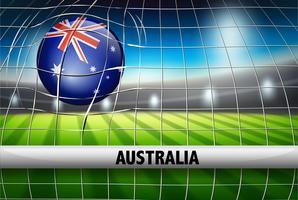 Pallone da calcio Australia in rete