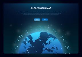 Mappa internazionale del globo 3D vettore