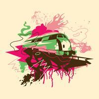 Illustrazione di graffiti vettore