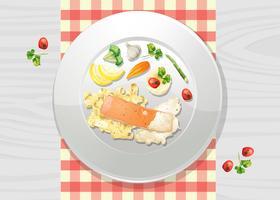 Salsa alla crema di salmone e pasta