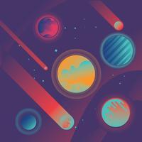 Set di enorme galassia di universo sfondo illustrazione