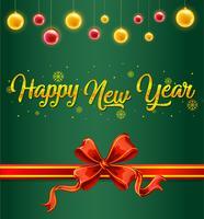 Un modello di carta verde nuovo anno