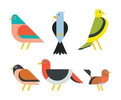 Set di clipart per uccelli