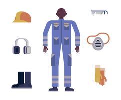 Illustrazione di equipaggiamento protettivo personale