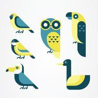 Pacchetto di clipart vettoriali uccello
